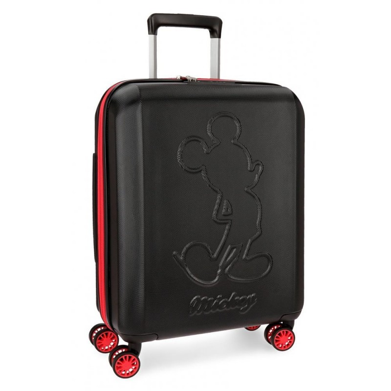 Valise cabine 4 roues extensible Mickey Colored Noir.