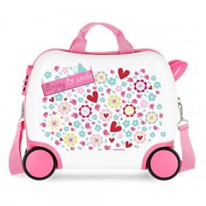 """Petite valise trotteur enfant """"Enjoy and Smile""""- MOVOM"""