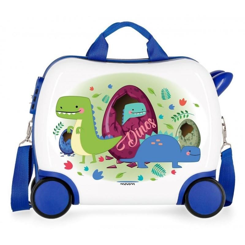 "Petite valise trotteur enfant ""Dinos""- MOVOM"
