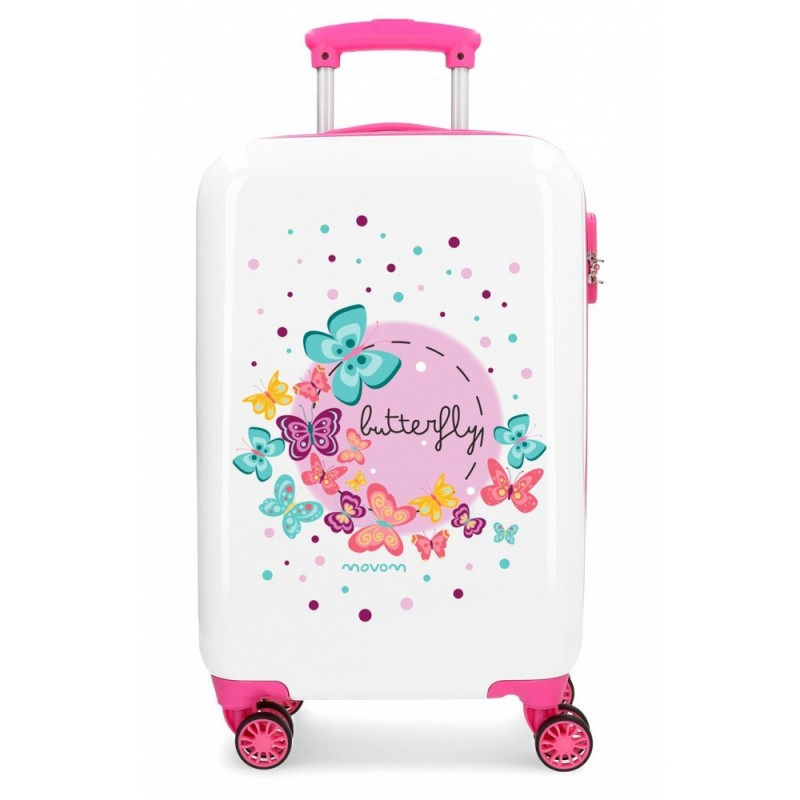 """Valise 4 roues en ABS """"Butterfly"""" - Movom"""