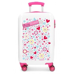 "Valise cabine 4 roues en ABS ""Enjoy and Smile"" - MOVOM"