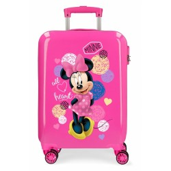 "Valise cabine 4 roues rigide DISNEY Minnie ""Heart"" - Disney"