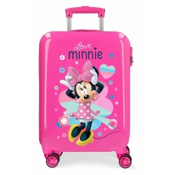 "Valise cabine 4 roues rigide DISNEY Minnie ""LOVE"" - Disney"