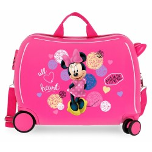 Valise Trotteur Enfant  Minnie Heart - Disney.
