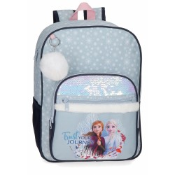 "Sac à Scolaire 38cm La Reine des Neiges ""Trust your journey"" - Disney."