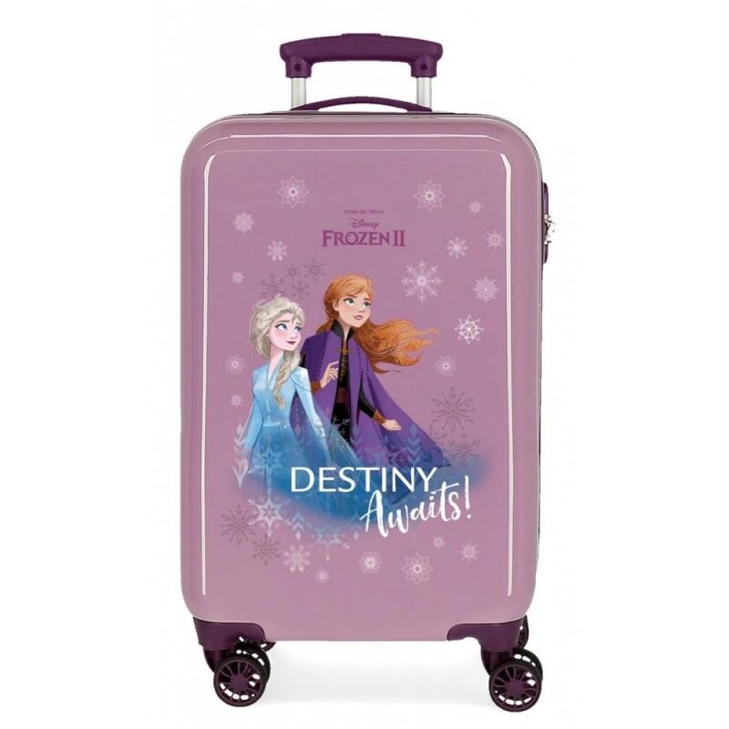 """Valise cabine pour enfant LA REINE DES NEIGES 2 """"Destiny Awaits """" coloris pourpre"""