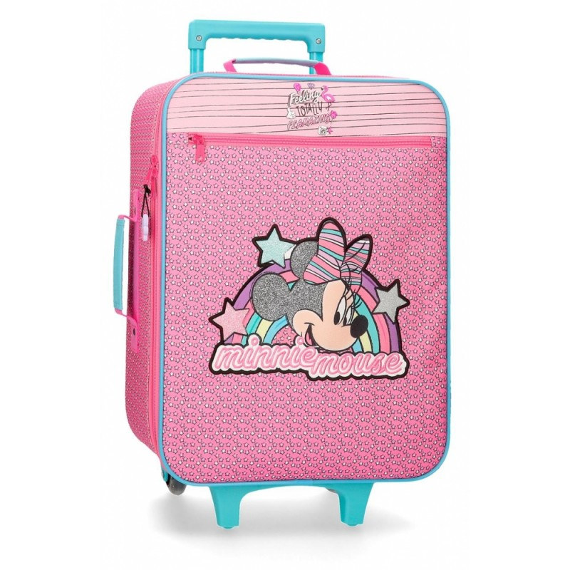 "Valise cabine souple DISNEY Minnie ""Pink Vibes"" - Disney"