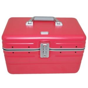 """Vanity case rigide DAVIDTS """"Betty"""" rose corail en polycarbonate léger robuste qualité supérieure pas cher"""