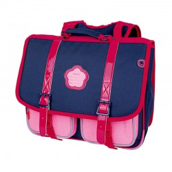 Cartable KICKERS 38 cm fille bleu/rose - face