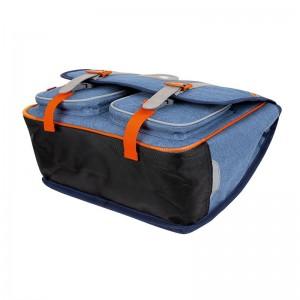 Cartable KICKERS 38 cm garçon chiné bleu/orange - dessous