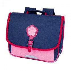 Cartable KICKERS 35 cm fille bleu/rose - face
