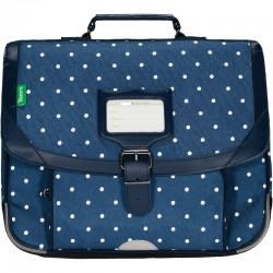 "Cartable TANN'S 35 cm ""Angèle"" denim - face"