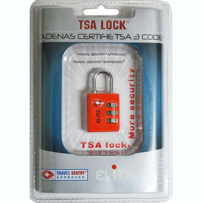 Cadenas à codes TSA - Orange