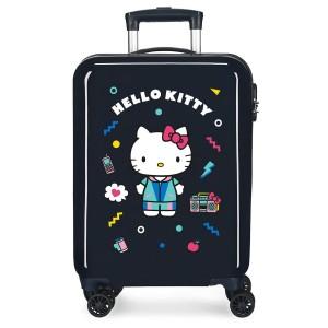 """Valise cabine HELLO KITTY """"Castle of Hello Kitty"""" - marine"""