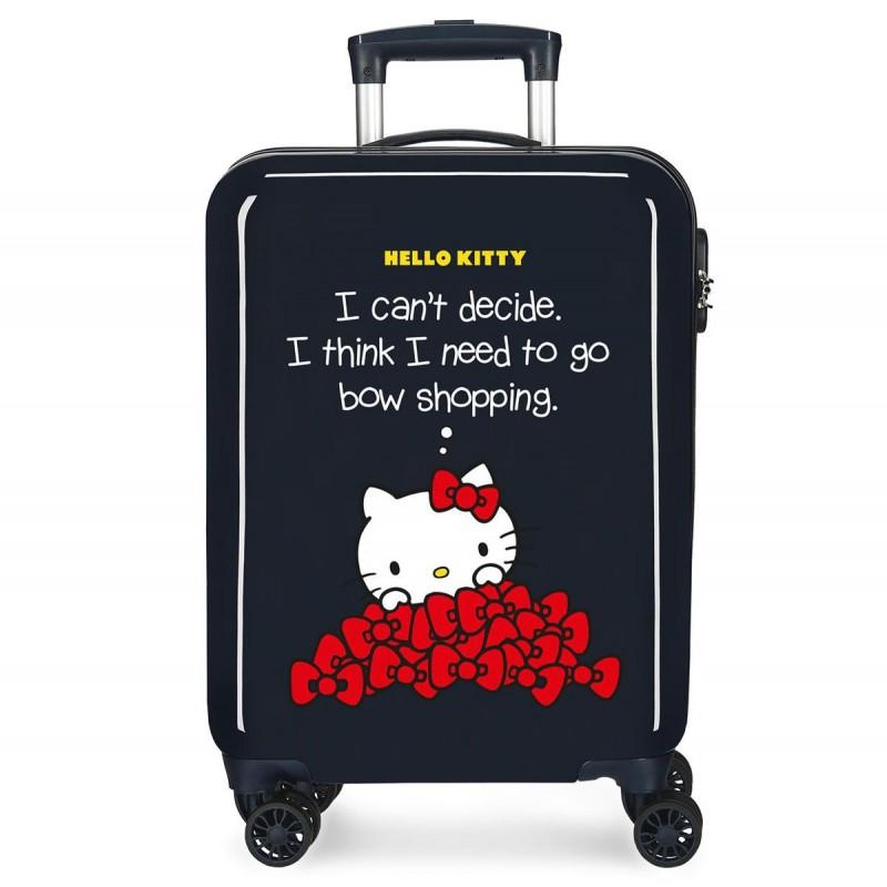 "Valise cabine HELLO KITTY ""Bow of Hello Kitty"" - marine"