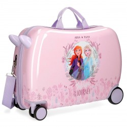 "Valise trotteur LA REINE DES NEIGES ""Believe in the Journey"" - rose/mauve"