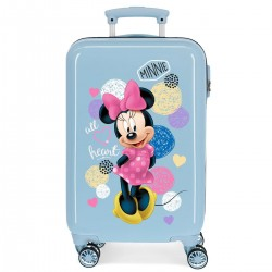 "Valise cabine DISNEY Minnie ""Love"" - ciel"