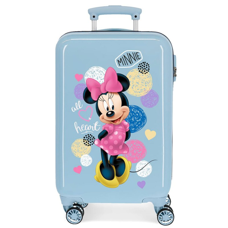 "Valise cabine DISNEY Minnie ""Love"" - ciel"