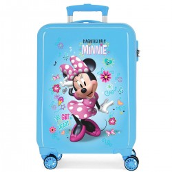 "Valise cabine DISNEY Minnie ""Enjoy Hello"" - bleu"