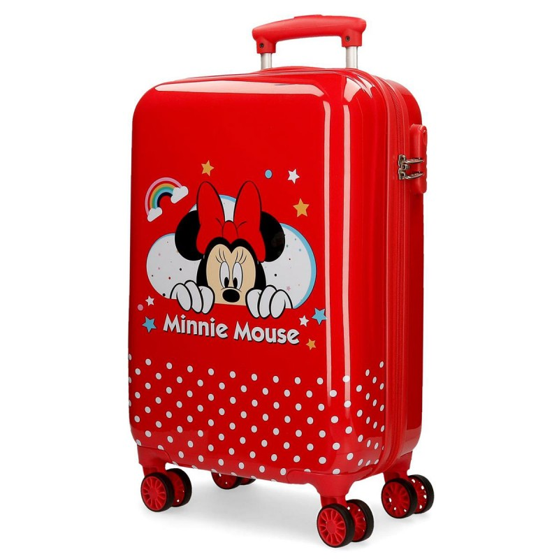 "Valise DISNEY Minnie ""Rainbow"" - rouge"