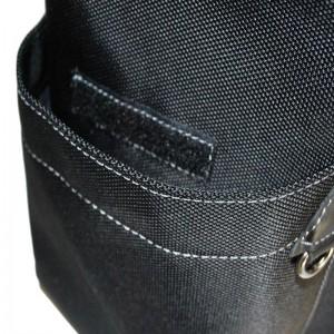 Sac à dos multi-poches Nylon garni Cuir - Noir