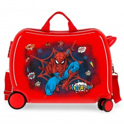 "Valise trotteur SPIDERMAN ""Pop"" - rouge"