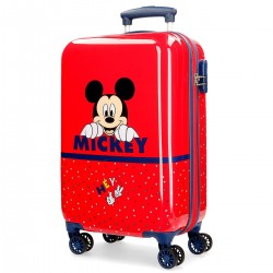 "Valise cabine DISNEY Mickey ""Happy"" - rouge"