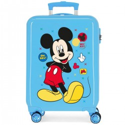 "Valise cabine DISNEY Mickey ""Enjoy the day"" - bleu"