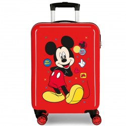 "Valise cabine DISNEY Mickey ""Enjoy the day"" - rouge"
