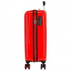 """Valise cabine DISNEY Mickey """"Enjoy the day"""" - rouge"""