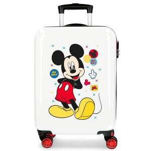 "Valise cabine DISNEY Mickey ""Enjoy the day"" - blanc"
