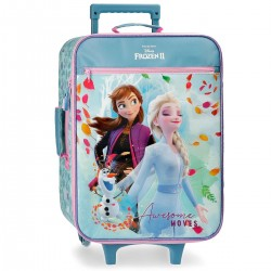 "Valise souple LA REINE DES NEIGES ""Awesome moves"" - bleu/rose"