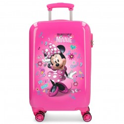 "Valise cabine DISNEY Minnie ""Stickers"" - rose"