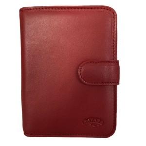 Porte-monnaie en cuir KATANA - rouge