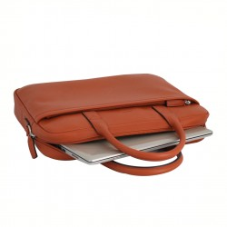 Cartable femme en cuir KATANA - orange