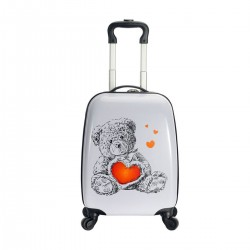 "Valise enfant SNOWBALL ""Ourson"" - blanc"