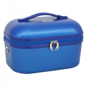 """Vanity case TRAVEL'S """"Kelly"""" - bleu métallisé"""
