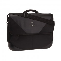 "Cartable 2 cpts protection PC DELSEY ""Palais Royal"" - noir"