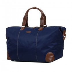 Sac week-end KATANA nylon et cuir - marine