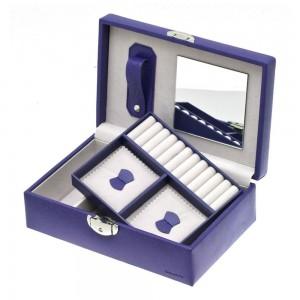 """Coffret à bijoux DAVIDTS """"Euclide"""" - violet"""