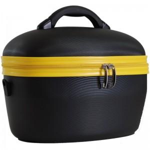 "Vanity case rigide DAVIDTS ""Minka"" noir/jaune"