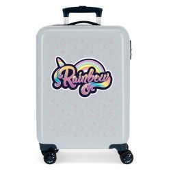 """Valise cabine fille MOVOM """"Rainbow"""" - gris"""