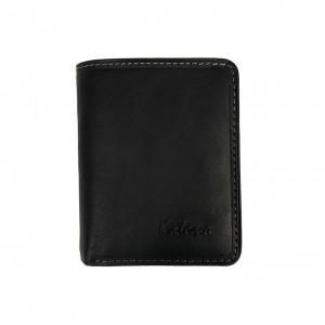 Porte-monnaie multifonctions en cuir KATANA - noir