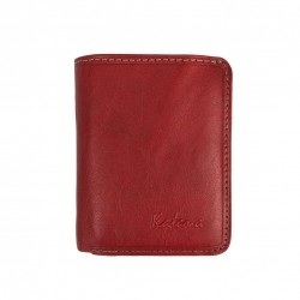 Porte-monnaie multifonctions en cuir KATANA - rouge