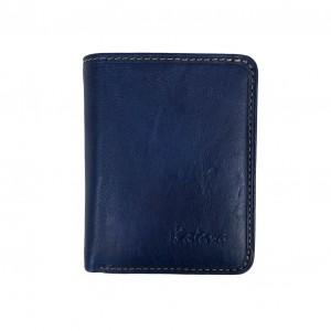 Porte-monnaie multifonctions en cuir KATANA - bleu