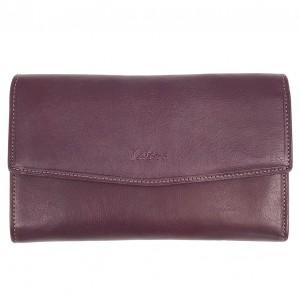 Compagnon femme à rabat en cuir KATANA - violet