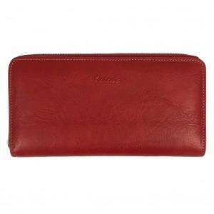 Portefeuille compagnon femme en cuir KATANA - rouge