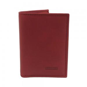 Porte-cartes en cuir KATANA protection RFID - rouge