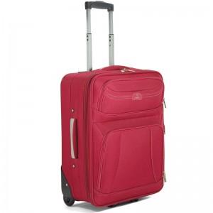 Valise 2 roues souple 50cm - Rouge