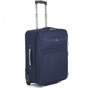 Valise cabine extensible BENZI 55cm bleu marine   Bagage avion pas cher